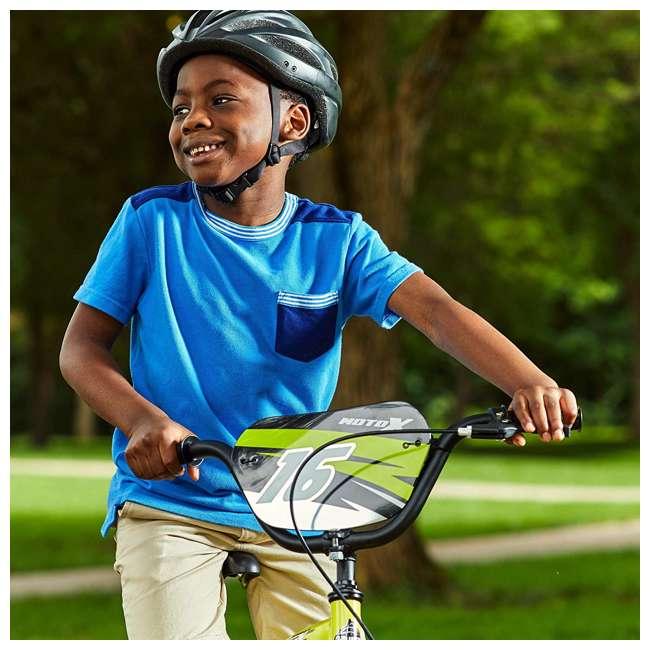 71828 Huffy Moto X 16 Inch Age 4-6 Kids Bike Bicycle with Training Wheels, Yellow 2
