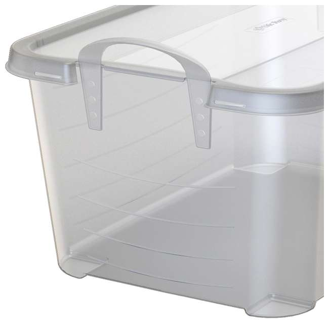 6 x CS-50-U-A Life Story Clear Stackable Closet & Storage Box 55 Quart Containers, (6 Pack) 3
