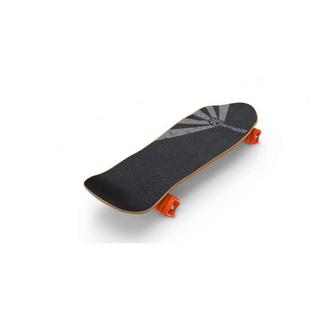 T8-3066 + 08231-SHARK Triple 8 Skate and Bike Helmet, Neon Tangerine + Fathom Shark Wheel Komoyo Cruiser Longboard, Green 10