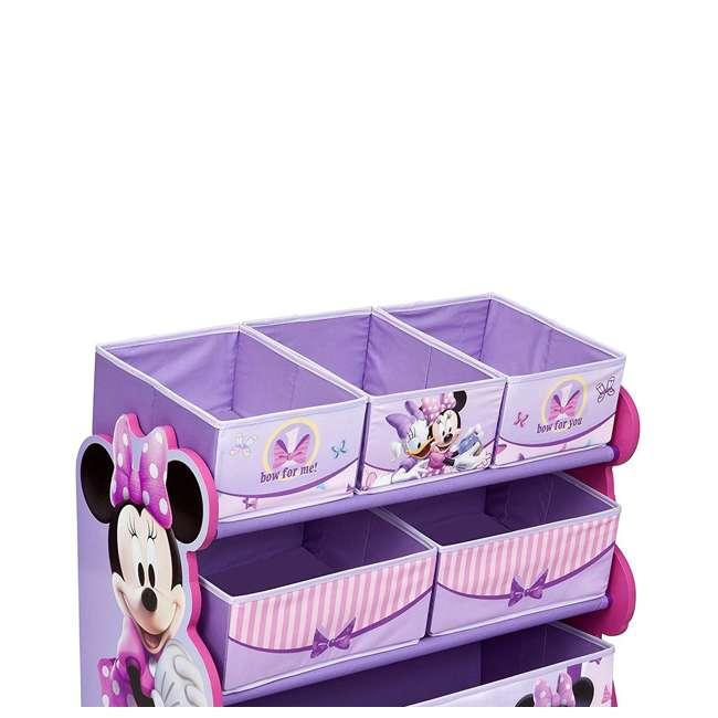 TB84848MN-999 Delta Children Minnie Mouse Wooden Multi Bin Toy Organizer, Pink (2 Pack) 5