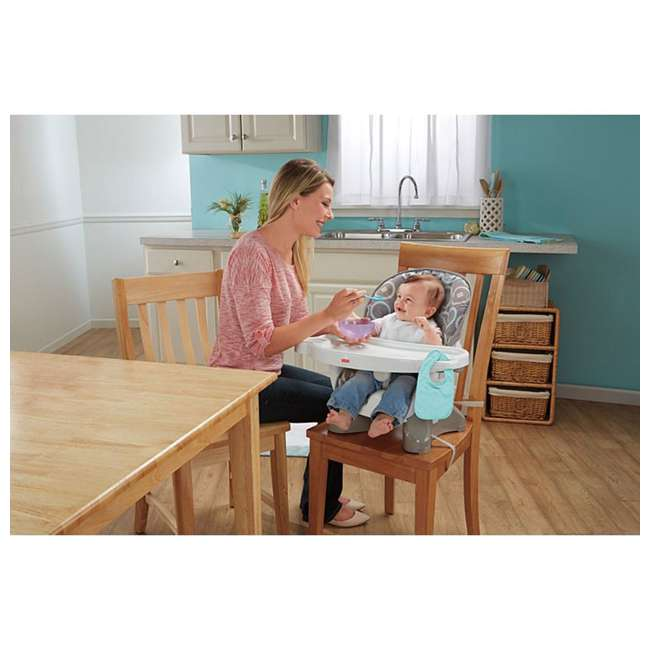 BMM98 Fisher Price SpaceSaver Portable Travel Baby Feeding High Chair Seat, Luminosity 6