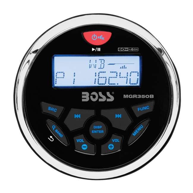 Boss Audio MGR350B 3-Inch Gauge Marine MP3/Radio Stereo Bluetooth Atv Boat Receiver