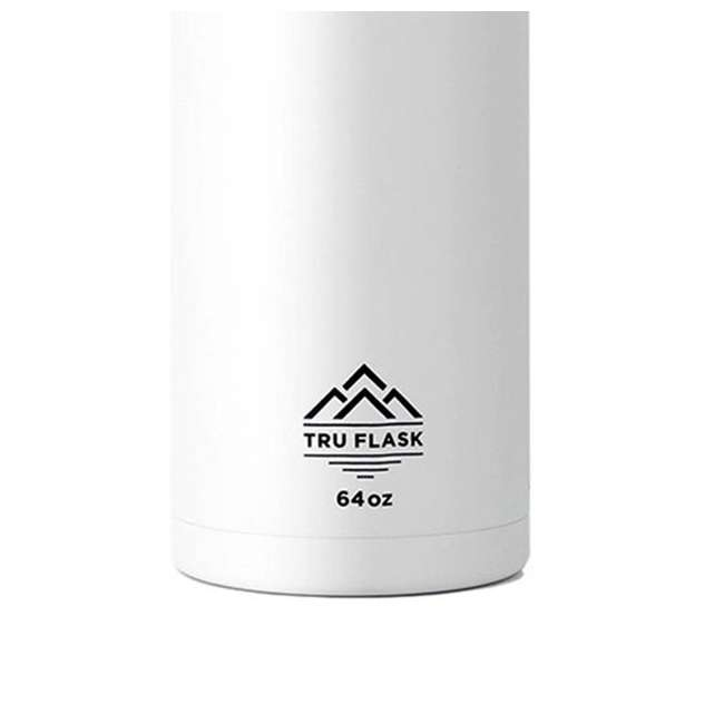 TF64 White TruFlask 64oz Stainless Steel Water Bottle, White 1