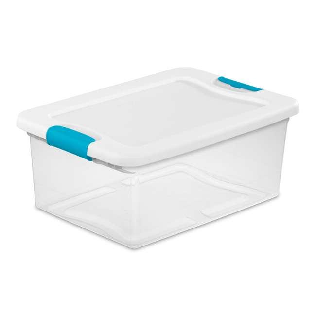 96 x 14948012 Sterilite 1494 15-Quart Clear Latching Stacking Storage Box (96 Pack) 1