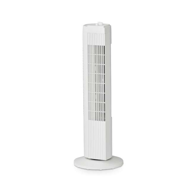 FZ10-19MW Mainstays FZ10-19MW 28 Inch Tall 3 Speed Compact Oscillating Tower Fan, White
