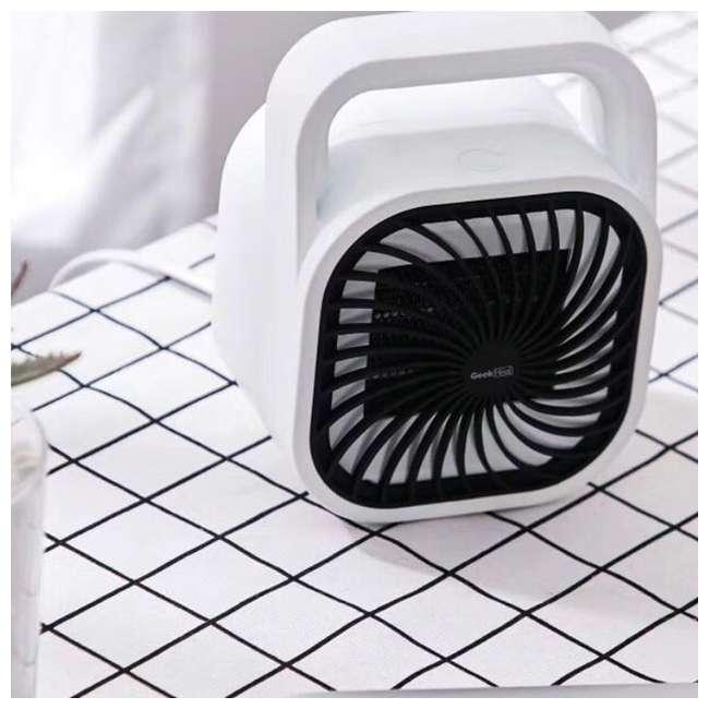 HA31-05E Geek Heat HA31-05E 500 Watt Mini Personal Portable Ceramic Fan Space Heater (2 Pack) 4