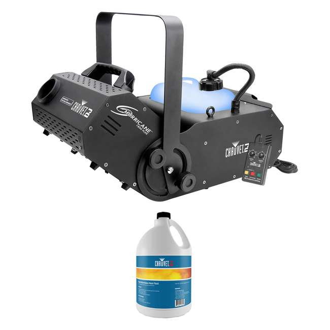 H1800FLEX + HFG-FLUID Chauvet FLEX DMX Fog Machine w/ Timer Remote & Fog Fluid, 1 Gallon