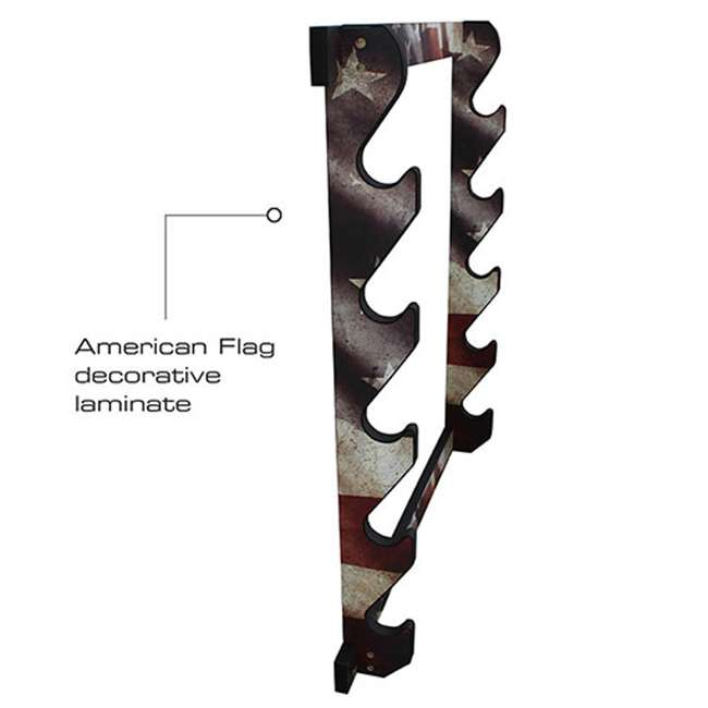 38-4046 Rush Creek Creations 38-4040 American Cherry Wooden 3 Gun Mounted Wall Rack 2