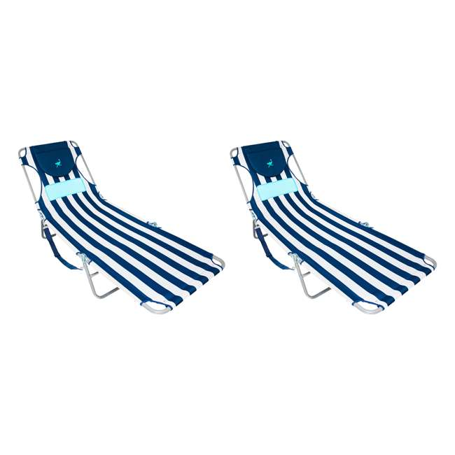 LCL-1006S Ostrich Comfort Lounger Face Down Sunbathing Chaise Lounge Beach Chair (2 Pack)