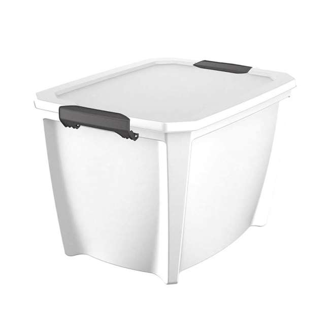T20GLWT-U-A Life Story White Stackable Latching Storage Box Container, 20 Gal (Open Box) 3