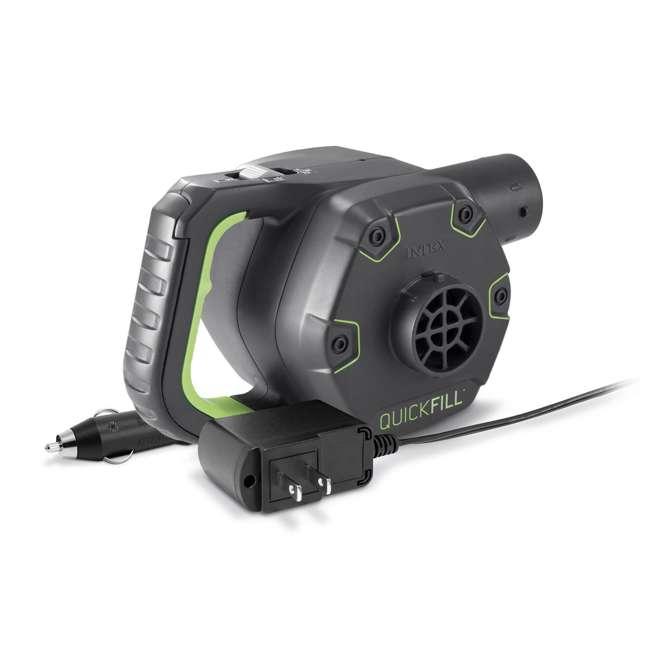 66641E + 66803EP Intex 120V Cordless Electric Air Pump Intex Kidz Inflatable Air Mattress w/ Bag 2