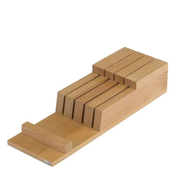 LEGNO-10 Arte Legno Natural Beechwood In Drawer Knife Block Holder Organizer with 7 Slots