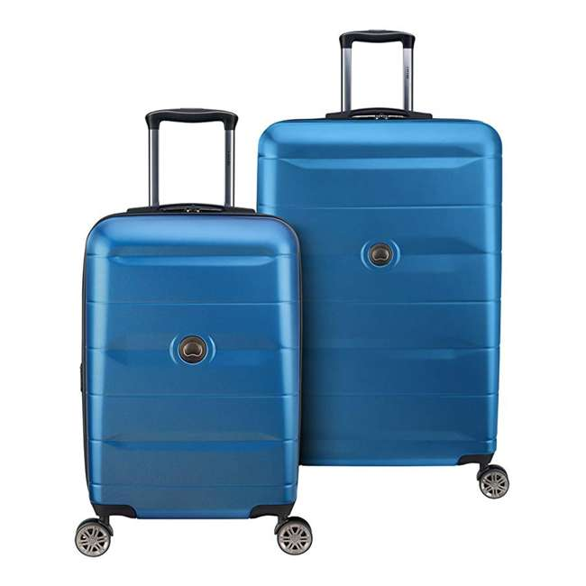 40386597322 DELSEY Paris Comete 2.0 2-Piece 21, 28 Inches Spinner Upright Travel Bag, Blue