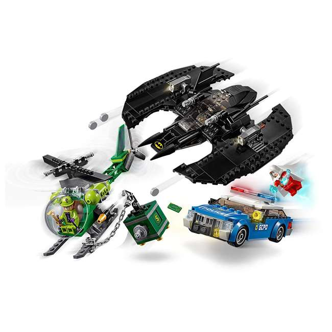 6251469 LEGO DC Batman 76120 Batwing and The Riddler Heist Building Set w/ 4 Minifigures 1