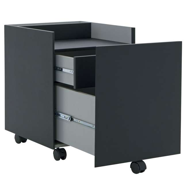 STDN-51106 Calico Designs 51106 Niche Rolling Portable Mobile Drawer Filing Cabinet, Black 1