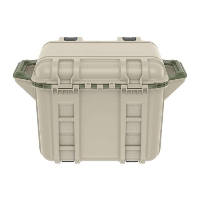 77-54865 OtterBox Venture Heavy Duty Outdoor Camping Fishing Cooler 25-Quarts, Tan/Green 4