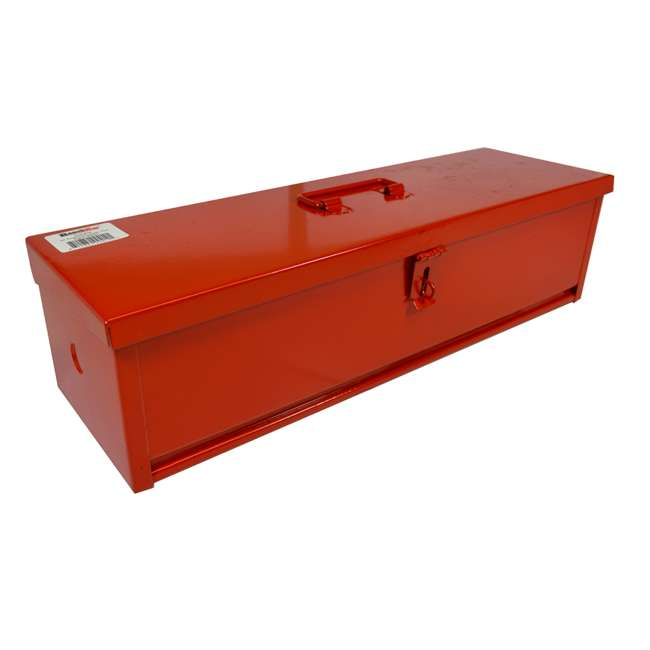RE-102419 Steel 16-Inch Portable Mountable Tool Box, Red