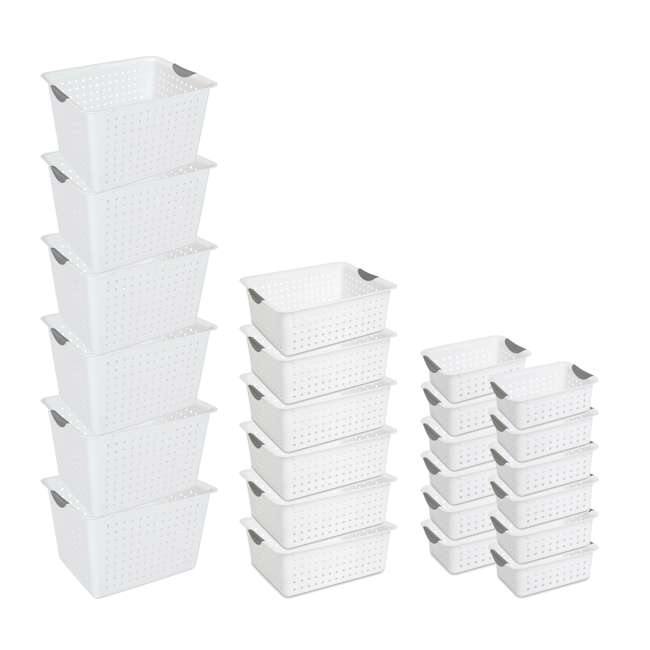 6 x 16288006 + 6 x 16268006 + 12 x 16228012 Sterilite Deep Ultra Storage Basket (6 Pack) + Large (6 Pack) + Small (12 Pack)