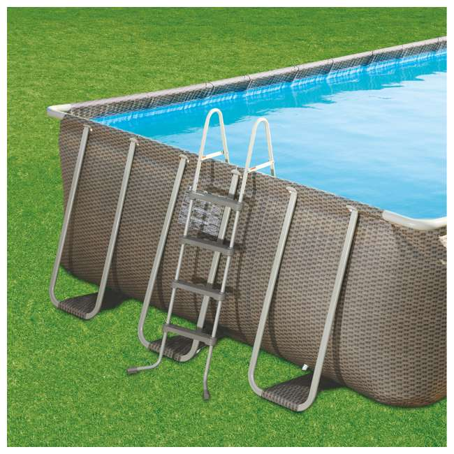 "P43216525167 + 4 x K71071000167 Summer Waves Elite 32' x 16' x 52"" Pool Set + Inflatable Rocking Chair Lounges 3"