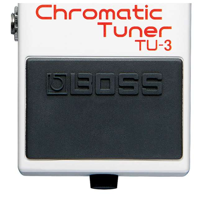 boss chromatic tuner guitar stompbox pedal instrument cable tu 3 ric b10. Black Bedroom Furniture Sets. Home Design Ideas