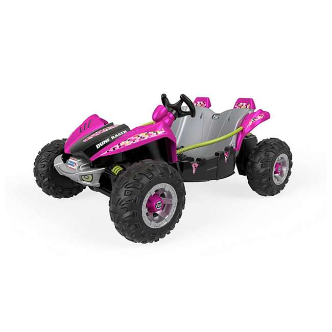 FLP27 + 74777 Power Wheels Battery Toy Car w/ Extra 12 Volt Rechargable Replacement Battery 6