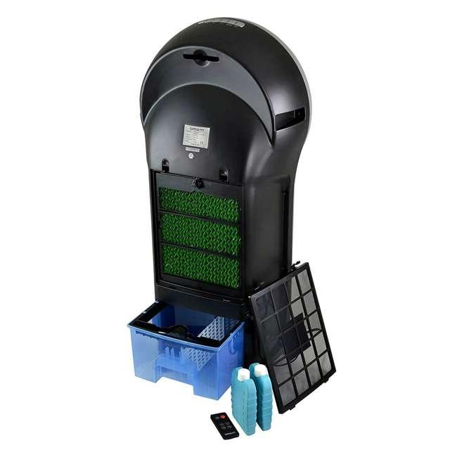 4 x EC110S-U-A Luma 250 Sq Ft 3 Speed Evaporative Cooler w/ Remote, Silver (Open Box) (4 Pack) 5