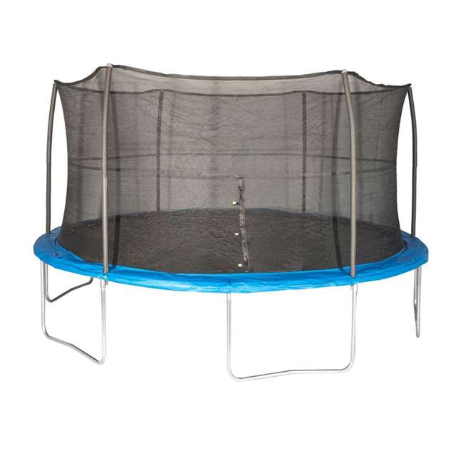 JK15VC2 JumpKing 15-Foot Trampoline with Safety Net Enclosure, Blue