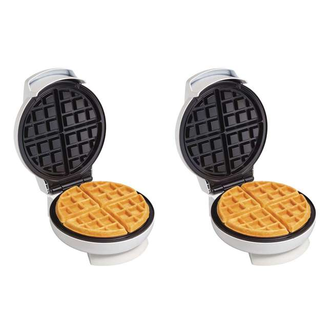 26070 2-Pack Proctor Silex Round Belgian-Style Waffle Makers