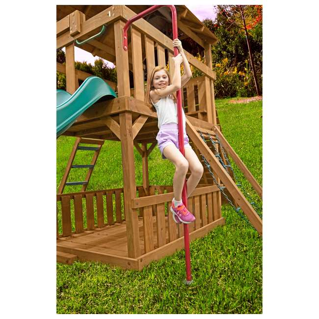 AA917-603 Creative Playthings AA917-603 Kids Backyard Playground Steel Fireman Pole, Red 1