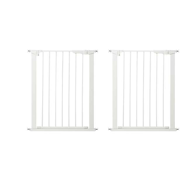 G1200 KidCo Extra Tall & Wide Auto Close Gateway Gate, White (2 Pack)