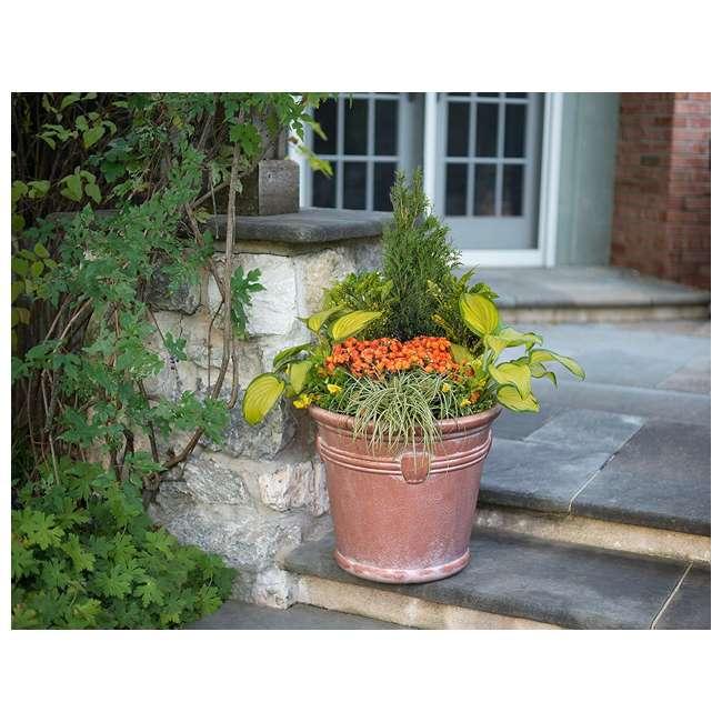 1820TCP4 Suncast Waterton 18 Inch Resin Round Decorative Flower Pot Planter (2 Pack) 3