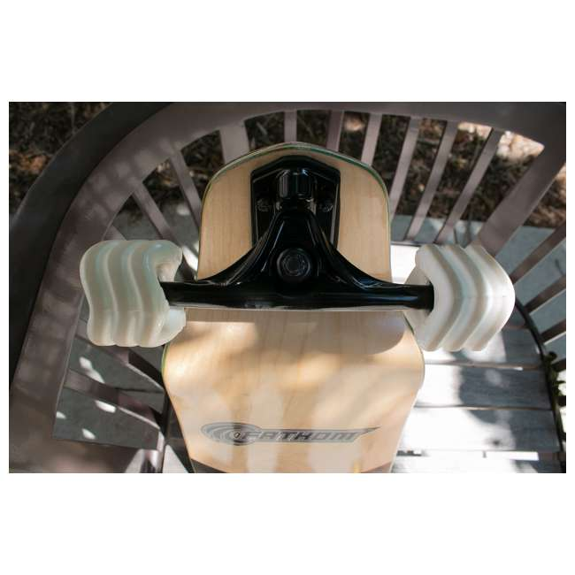 1000S70MMS78AW Shark Wheel Sidewinder 70mm 78A All-Terrain Skateboard Wheels, White 3