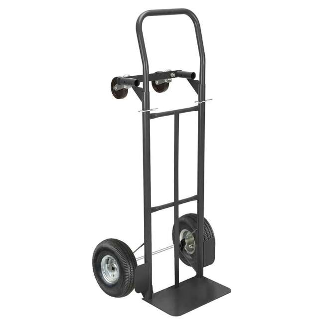 85-034 Olympia Tools 85-034 2 In 1 Convertible Rolling Steel Storage Cart Hand Truck