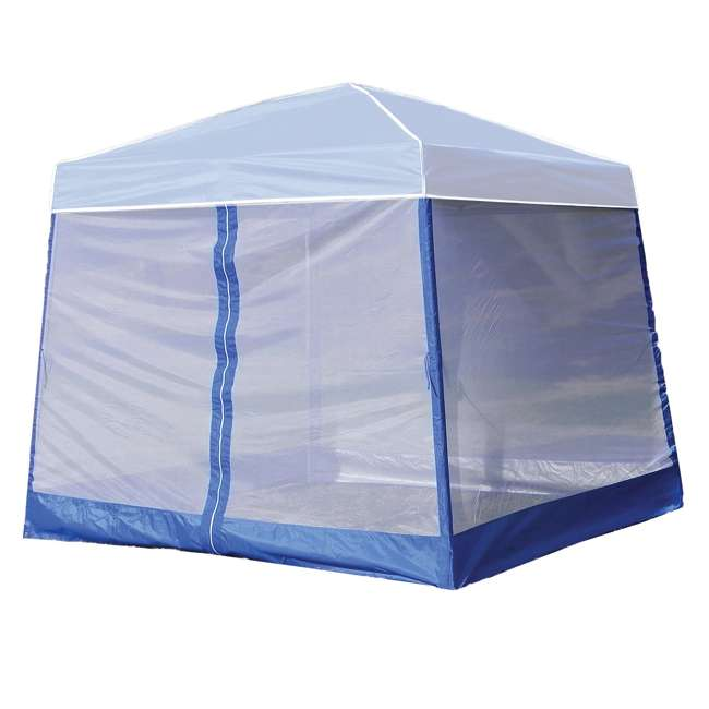 4 x ZS1SR10AL-U-B  Z-Shade 10 Foot Screenroom Shelter, Blue (Canopy Not Included) (Used) (4 Pack)