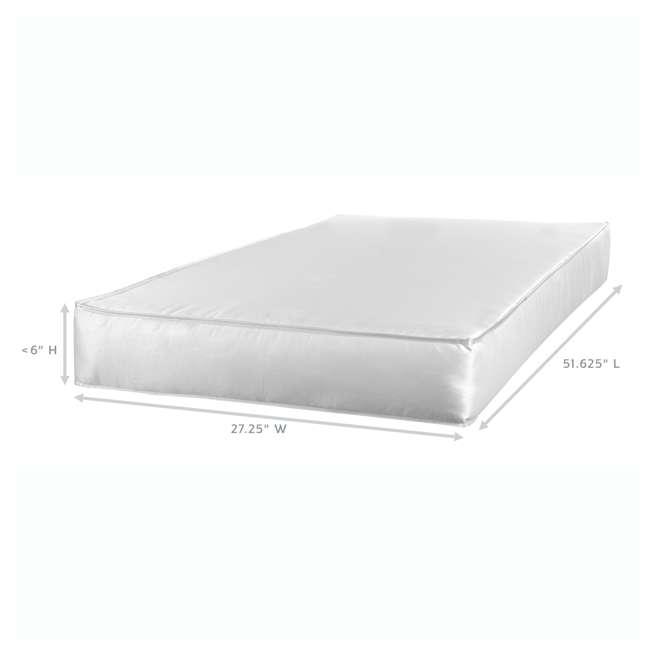 04550-04F + KM001-WGT1 Graco Westbrook Crib, Pebble Gray & Kolcraft Fresh Start Mattress 6