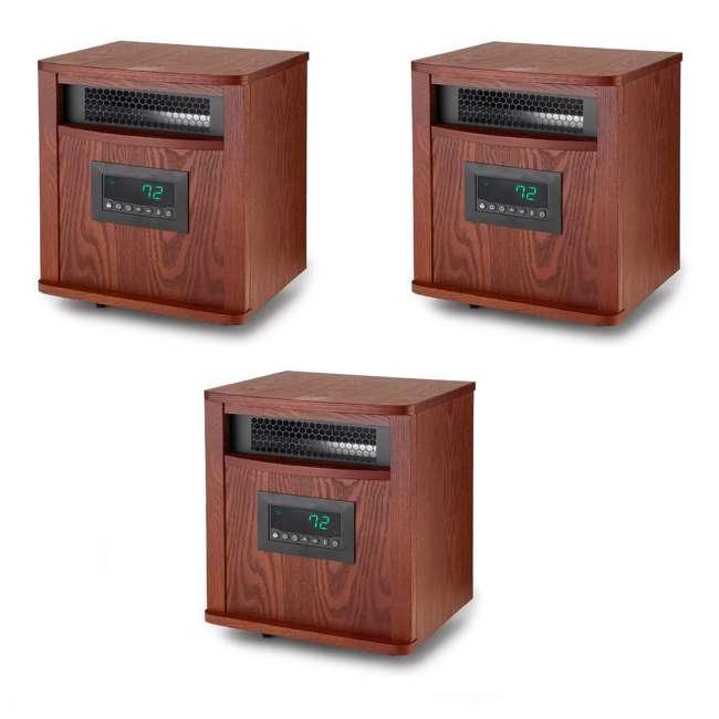 3 x LS-ZCHT1097US Lifesmart 6 Element 1500W Portable Infrared Quartz Mica Space Heater (3 Pack)
