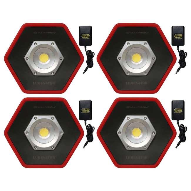 4 x MXN05000 Maxxeon Workstar 5000 Lumenator Commercial Grade LED Work Light, Red (4 Pack)