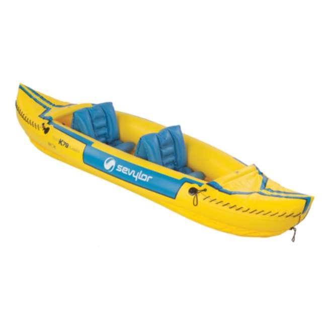 2000003414 Sevylor Tahiti Classic Inflatable 2 Person Kayak Boat