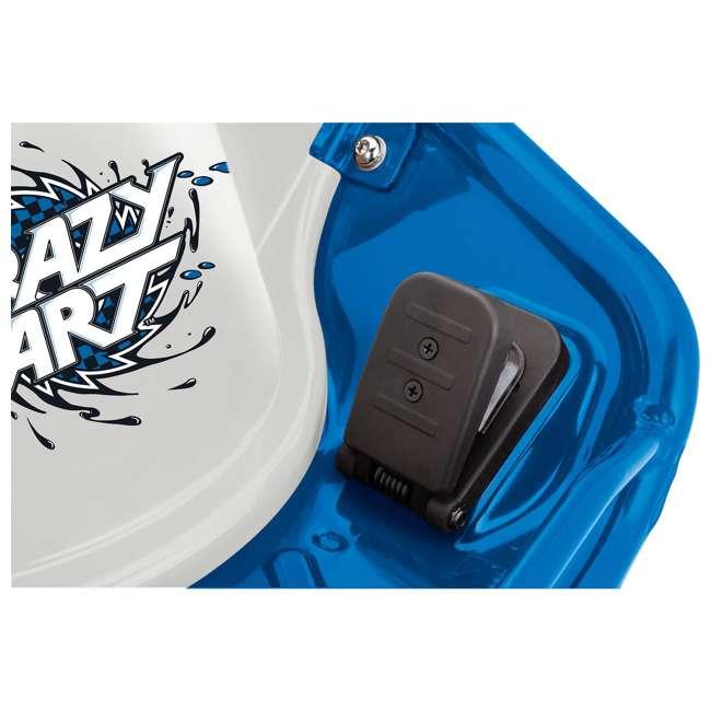 25143442 + 20143460 Razor High Torque Motorized Drifting Crazy Cart w/ Drift Bar, Blue/Red (2 Pack) 5