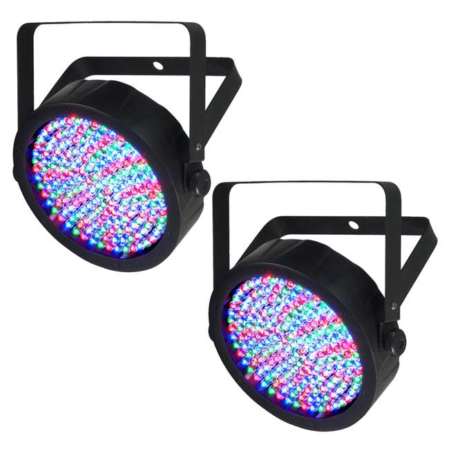 SLIM-PAR64 + CHS-25 Chauvet Slim-Par 64 LED Stage Light (2 Pack) + Carry Bag 1