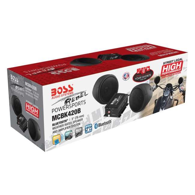 MCBK420B BOSS Audio 600 Watt Waterproof Motorcycle/ATV Bluetooth Speaker System, Black 6