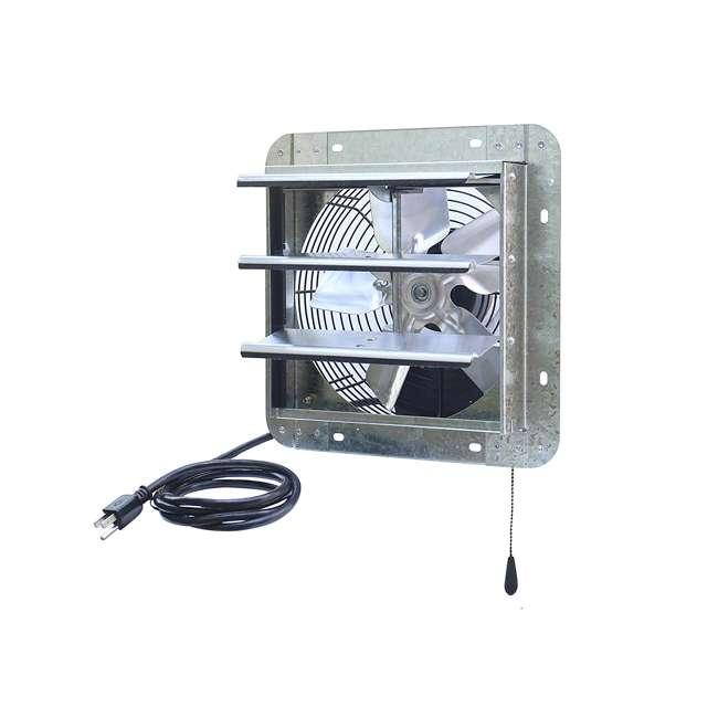 ILG8SF10V-T iLiving ILG8SF10V-T 3 Speed 10 Inch Exhaust Attic Garage Grow Fan w/ Thermostat 3