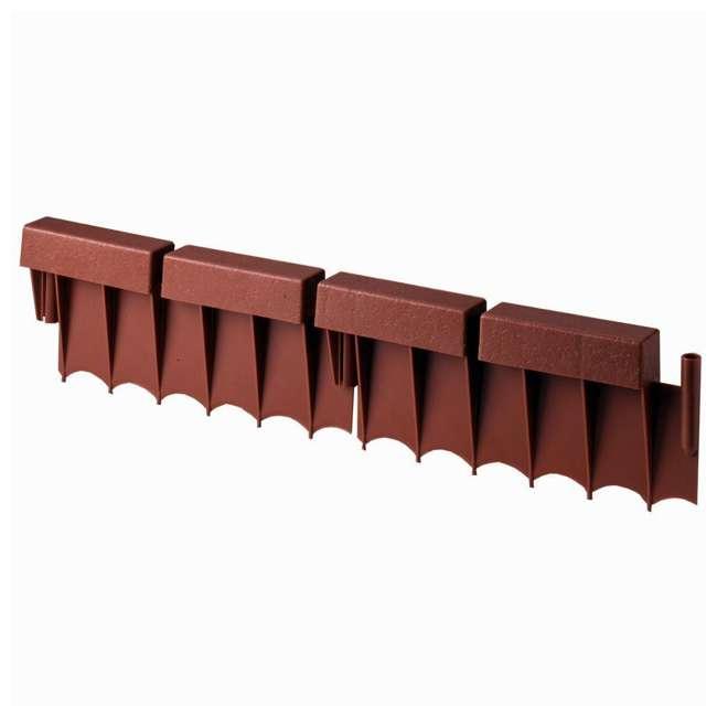 10 x BBE10TC Suncast 10' Interlocking Brick Resin Border Edging, 12 Inch Sections (10 Pack) 1
