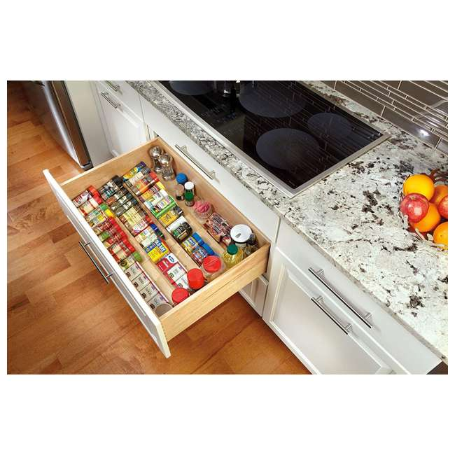 4SDI-24 Rev-A-Shelf 24 Inch Wood Spice Drawer Insert, Maple 1