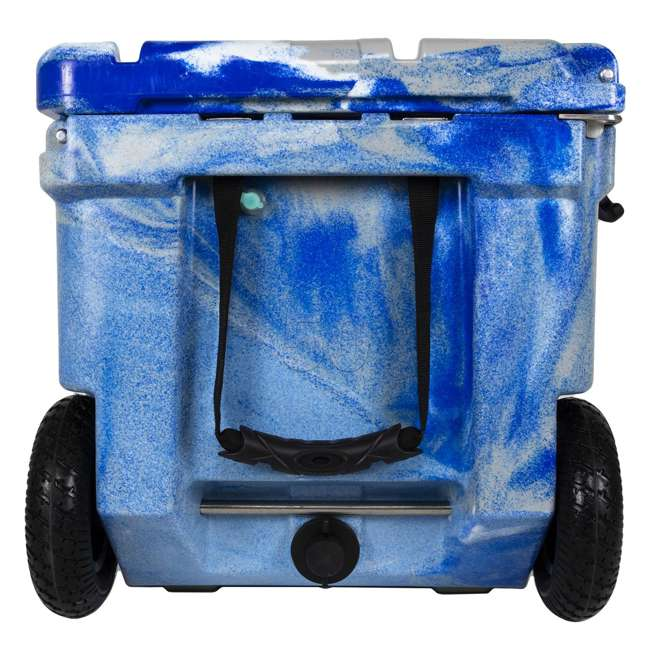 HC75-17M WYLD 75 Quart Pioneer Dual Compartment Insulated Cooler w/ Wheels, Marine Blue 4