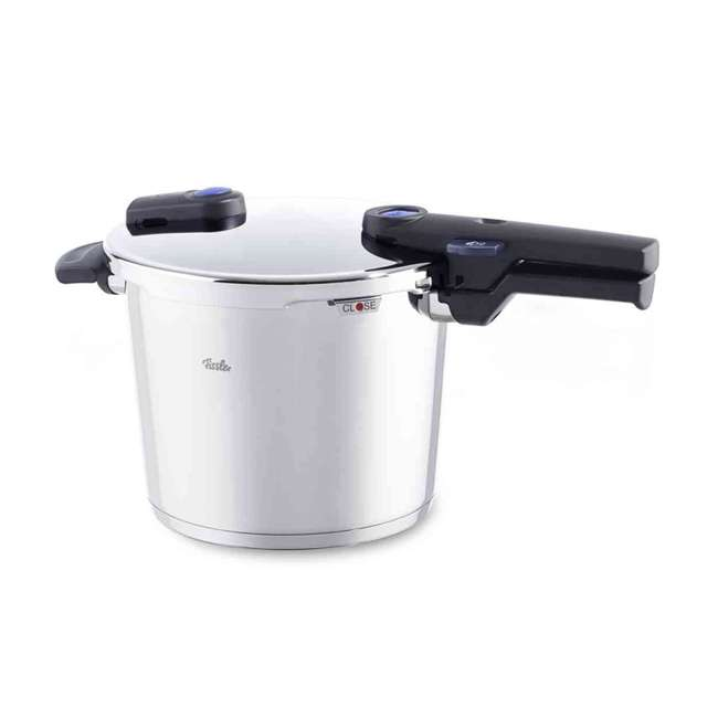 FISS-60030006079 Fissler Vitaquick 6.4 Quart Stainless Steel Stove Top Steam Pressure Cooker Pot