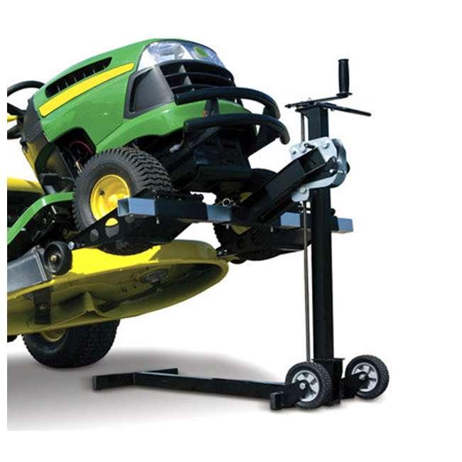 MJ00150-MJXT-U-B MoJack UPC Flat Folding 500lb Capacity Riding Lawn Tractor Mower Lift Jack(Used) 4
