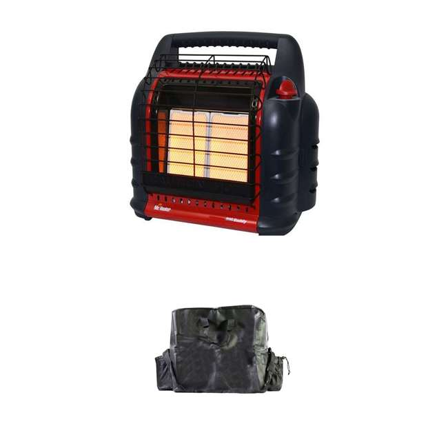 MH-F274805 + MH-78019 Mr. Heater 4,000 to 18,000 BTU Big Buddy Portable LP Gas Heater & Carry Bag