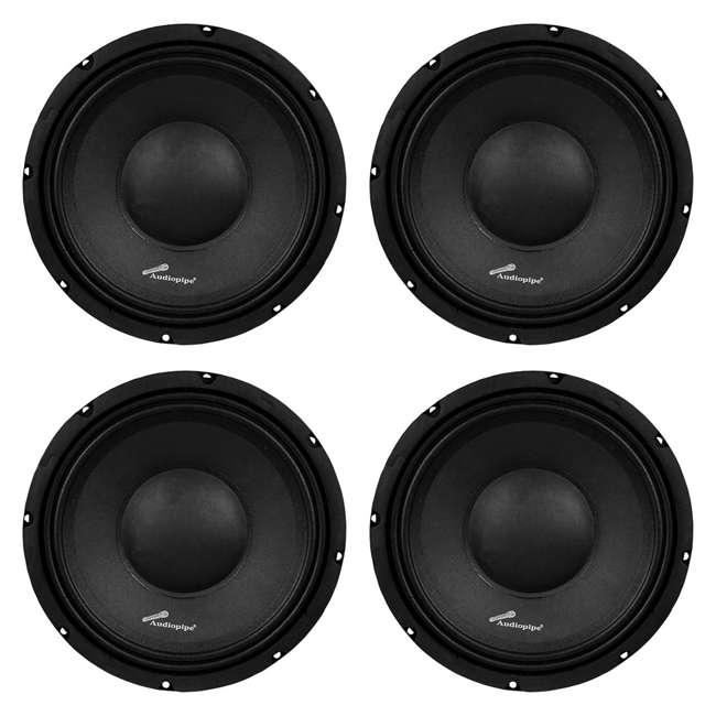 4 x APSP-1050 Audiopipe APSP-1050 10-Inch 700-Watt Mid-Range Loudspeaker (4 Pack)