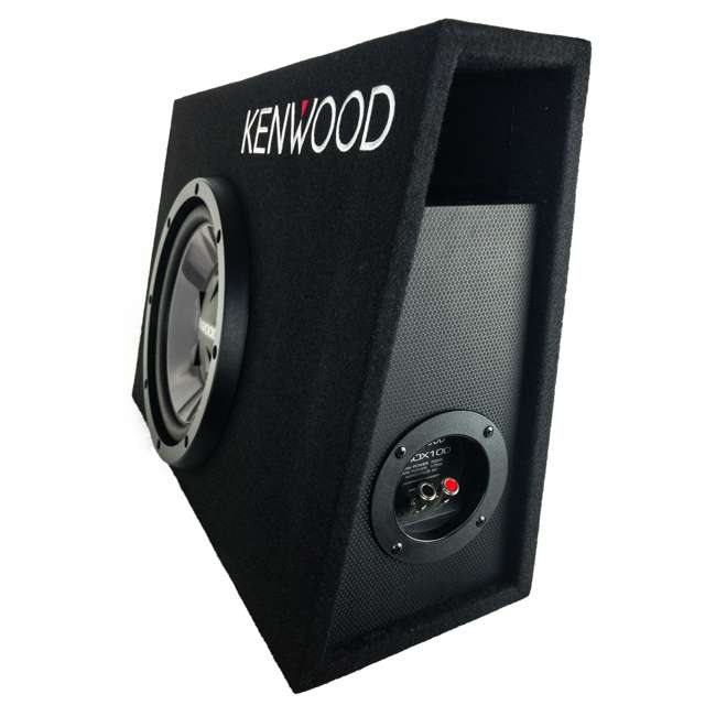 P-W101B-U-B Kenwood 10 Inch Car Loaded Vented Subwoofer & 500W Amplifier Package (Used) 3